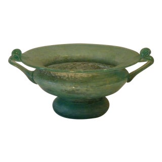 Vintage Mid-Century Murano Roman Compote For Sale
