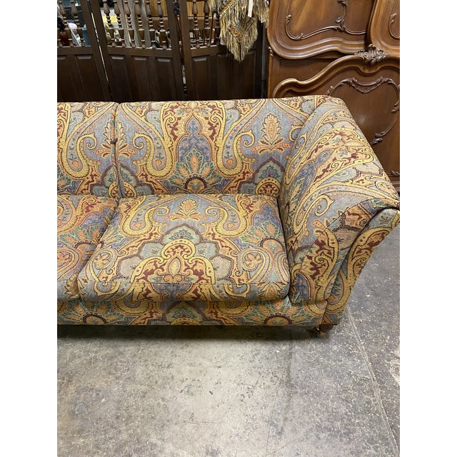 Etro 1990s Vintage Italian Etro Paisley Tapestry Fabric Sofa For Sale - Image 4 of 12
