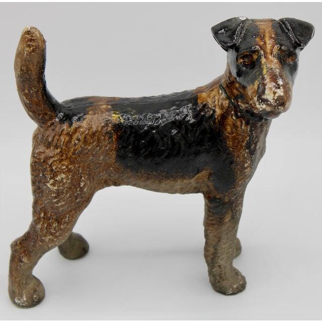 Antique Cast Iron Hubley Dog Door Stop / Garden Statue For Sale - Image 13 of 13