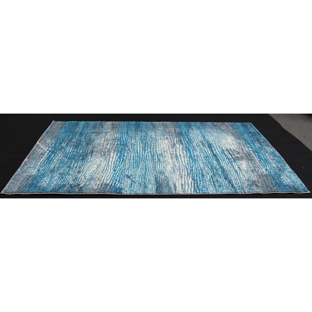 'Ocean' Blue Contemporary Rug 5'3''x 7'7'' - Image 5 of 5