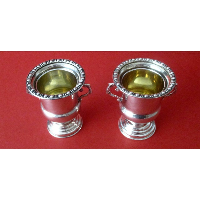 Traditional Antique 900 Silver Mini-Urns - A Pair - Image 3 of 6