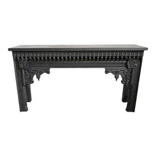 Black Moorish Architectural Console Table For Sale