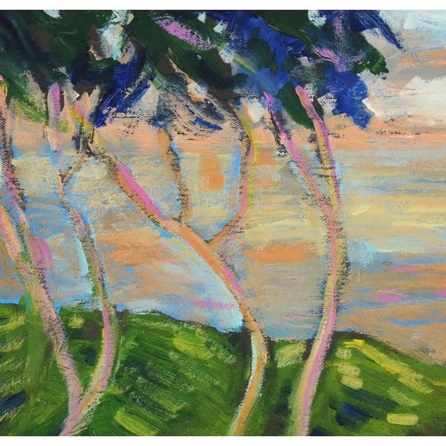 Canvas Juan Guzman Plein Air Landscape Painting For Sale - Image 7 of 10