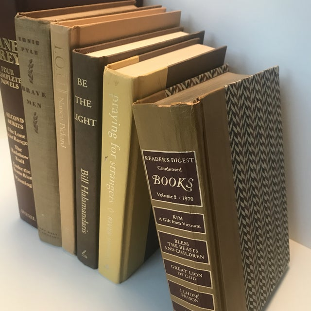 Americana 20th Century Americana Rich Gold and Brown Book Bundle - Set of 6 For Sale - Image 3 of 12