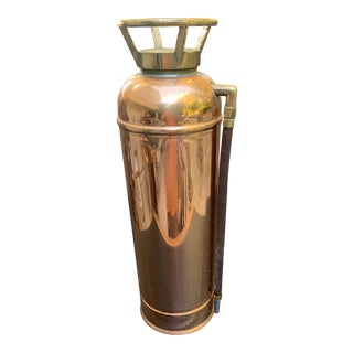 Fyr-Fyter Co. Dayton, Ohio Copper and Brass Full Size Fire Extinguisher For Sale