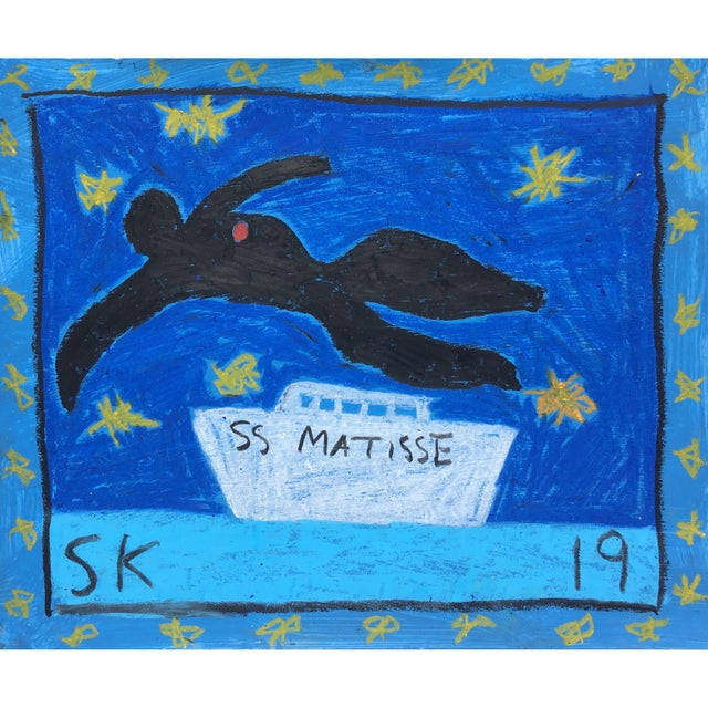Abstract Abstract Boat Drawing by Sean Kratzert, 'Ss Matisse' For Sale - Image 3 of 3