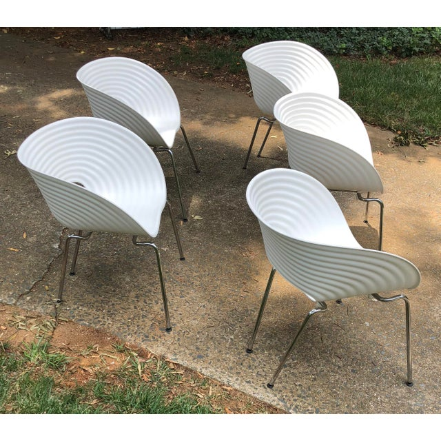 Late 20th Century Tom Vac Ron Arad by Vitra Chairs - Set of 5 For Sale - Image 5 of 12