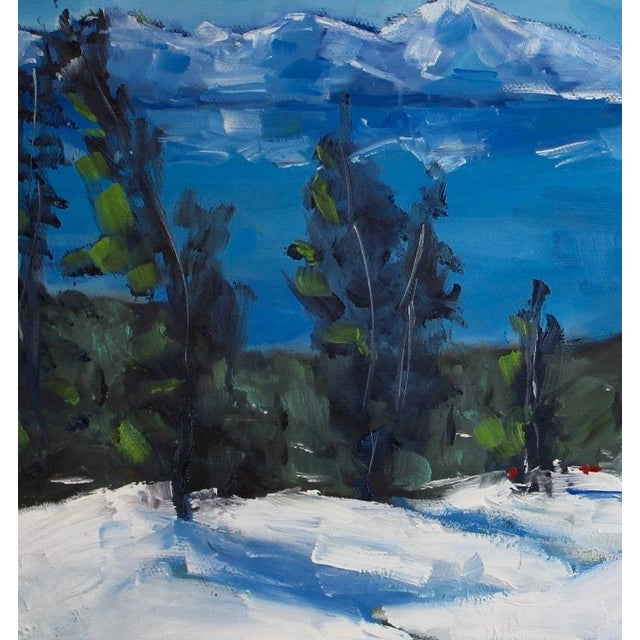 Diamond Peak Run Original Oil Painting Landscape For Sale - Image 9 of 12