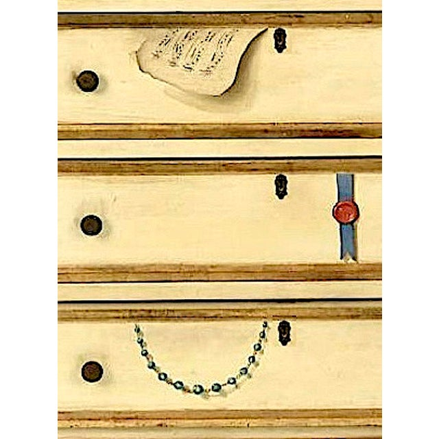 Paint 20th Century French Maison Jansen Hand Painted Secretary Desk For Sale - Image 7 of 12