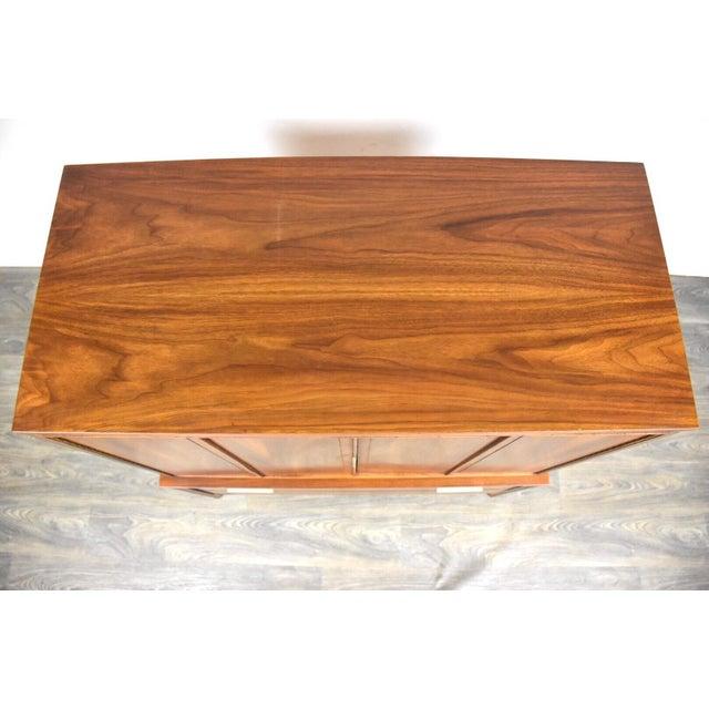 Kent Coffey Impact Tall Walnut Mid Century Dresser For Sale - Image 10 of 11