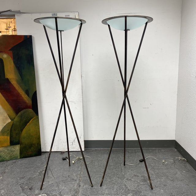 Late 20th Century Tripod Floor Lamps - a Pair For Sale - Image 13 of 13