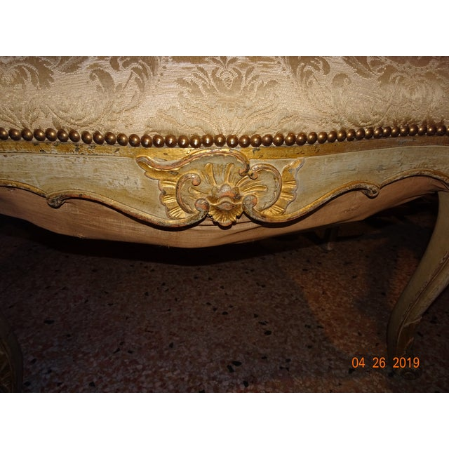 Gold Pair of 19th Century Italian Fauteuils For Sale - Image 8 of 13