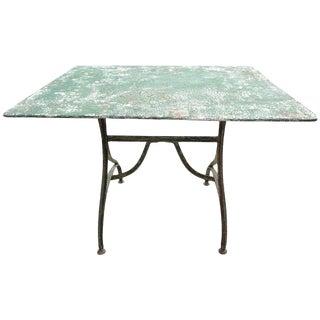 Antique Rectangular Iron Garden or Bistro Table