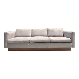 1970s Mid-Century Sofa With Teak Wood Base For Sale