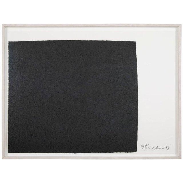 "Richard Serra Work on Paper ""Leo"", From ""Leo Castelli 90th Birthday Portfolio"" For Sale"