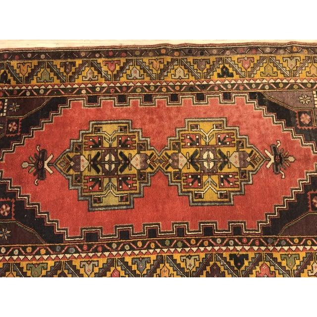 1960s Vintage Oushak Handmade Rug-3′8″ × 6′3″ For Sale - Image 5 of 7