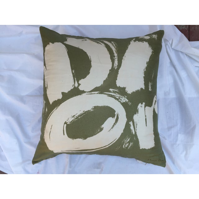 Vintage Dior Logo Scarf Pillow For Sale - Image 5 of 8