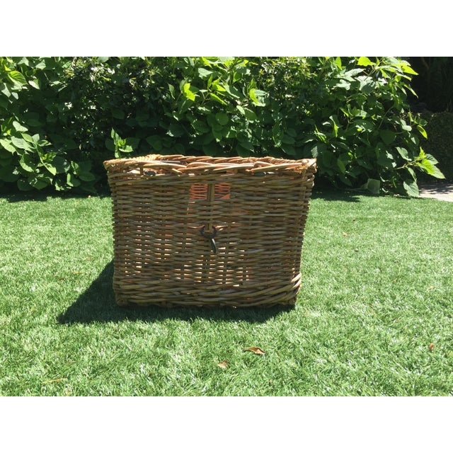 Country Antique French Champagne Grape Basket For Sale - Image 3 of 6