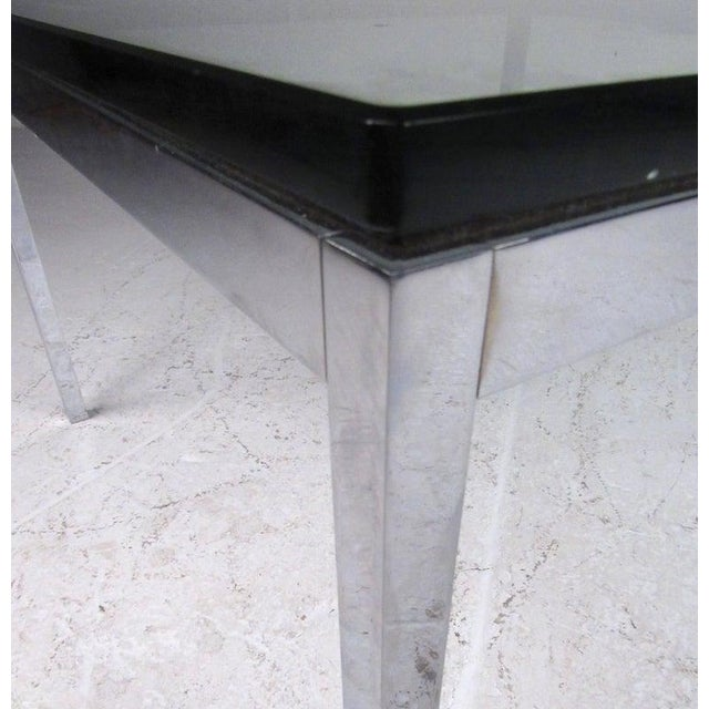 Metal Pair of Mid-Century Modern Chrome and Glass Coffee Tables For Sale - Image 7 of 11
