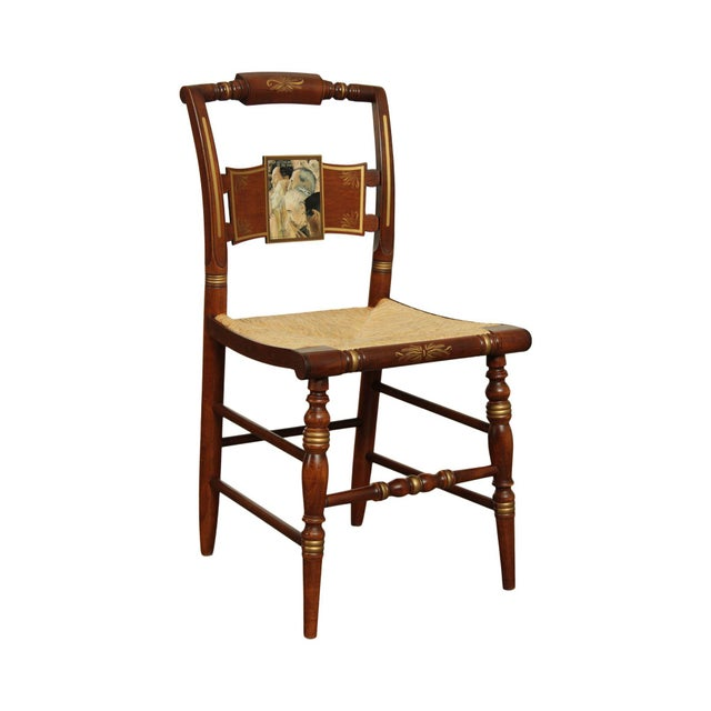 "Hitchcock Norman Rockwell ""Freedom of Worship"" Limited Edition Side Chair For Sale - Image 13 of 13"