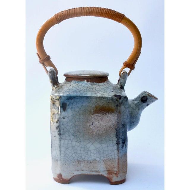 Asian Mid Century Art Studio Ceramic Teapot For Sale - Image 3 of 7