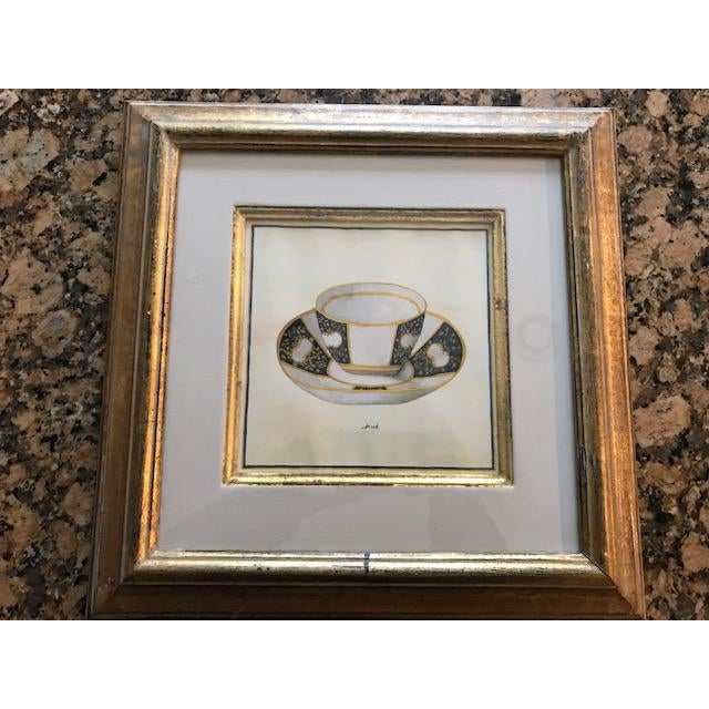 Trowbridge Gallery Numbered Teacup Square Prints in Gilt Frames - Set of 4 For Sale In New York - Image 6 of 13