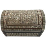 Image of Handcrafted Middle Eastern Syrian Mother-Of-Pearl Jewelry Box For Sale