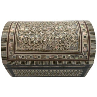 Handcrafted Middle Eastern Syrian Mother-Of-Pearl Jewelry Box For Sale