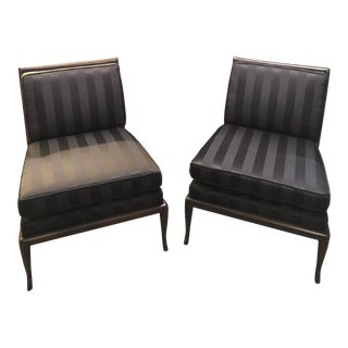 1950's Vintage T.H. Robsjohn Gibbings Armless Chairs- A Pair For Sale