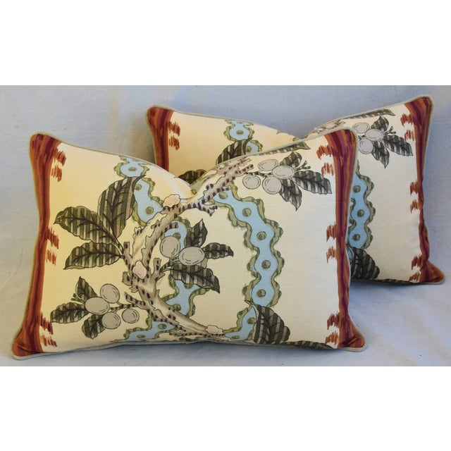"Feather Brunschwig & Fils Josselin Feather/Down Pillows 26"" X 17"" - Pair For Sale - Image 7 of 13"
