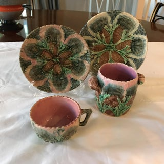 Etruscan Antique Majolica Shell & Seaweed Set - Set of 4 Preview