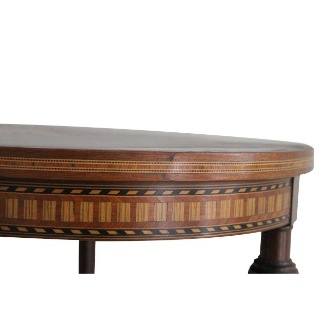 Antique Rosewood Marquetry Inlay Table - Image 3 of 3