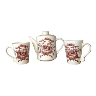 French Country Rooster Coffee Tea Set - 3 Pcs