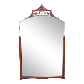 1970s Vintage Chippendale Style Pagoda Mirror For Sale