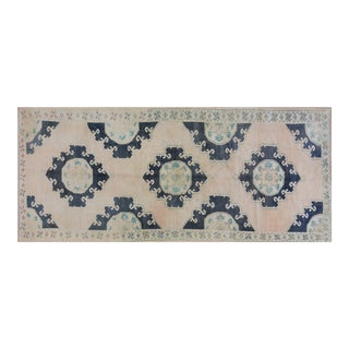 """Vintage Turkish Anatolian Oushak Hand Knotted Organic Wool Fine Weave Rug,4'8""""x11'3"""" For Sale"""
