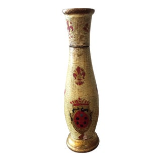 Italian Florentine Wooden Shaker For Sale