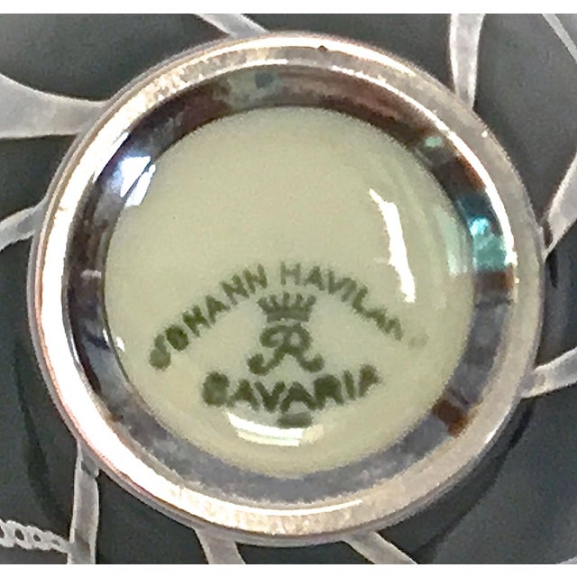 Art Deco Haviland Green & Silver Porcelain Vase - Image 9 of 9