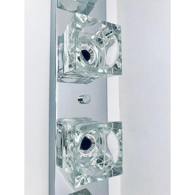 Mid-Century Modern Chrome Wall Light With Cubist Design by Gaetano Sciolari For Sale - Image 12 of 13