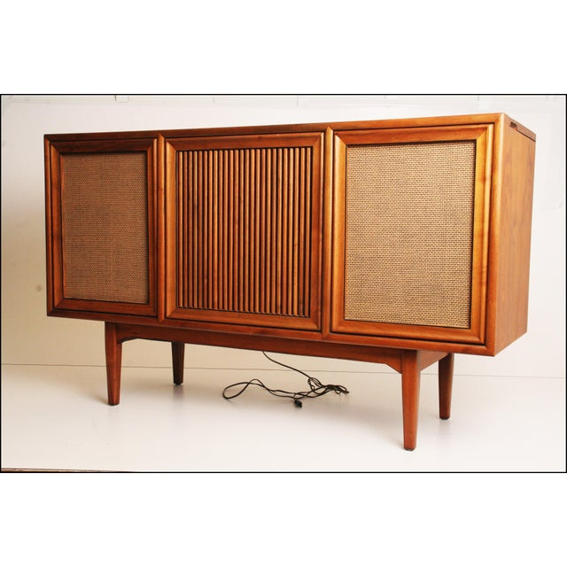 Drexel Mid-Century Modern Record Console Credenza For Sale - Image 10 of 11