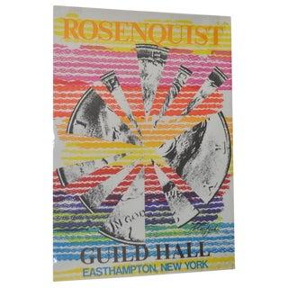 James Rosenquist Pencil Signed Pop Art Exhibition Lithograph c.1974 For Sale