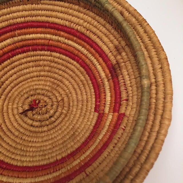 Blue Northwest Coast Salish Lidded Coiled Basket For Sale - Image 8 of 13
