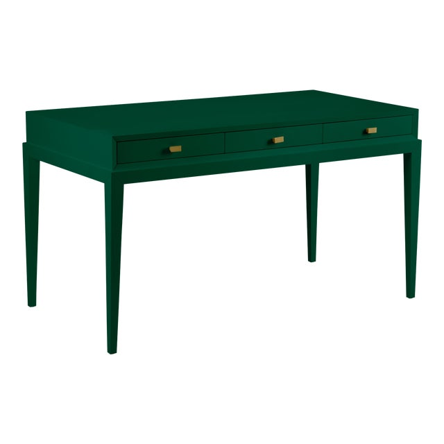Casa Cosima Hayes Desk, Chrome Green For Sale