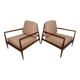 Mid-Century Modern Lounge Chairs in the Style of t.h. Robsjohn-Gibbings For Sale