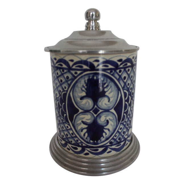 Blue & White Canister - Image 1 of 4