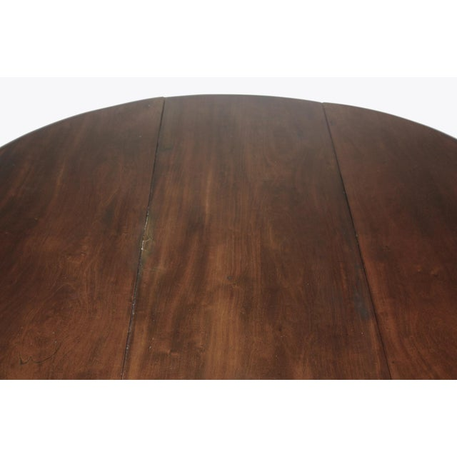 Drop Leaf Dining Table / ROUND / George III Period For Sale - Image 4 of 6
