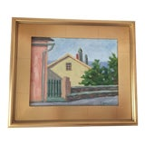 Image of Corsica Series Contemporary Landscape Framed Oil Painting For Sale