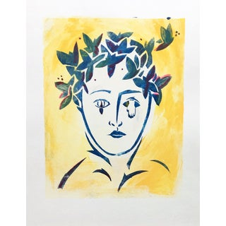 Yellow Butterfly Monoprint