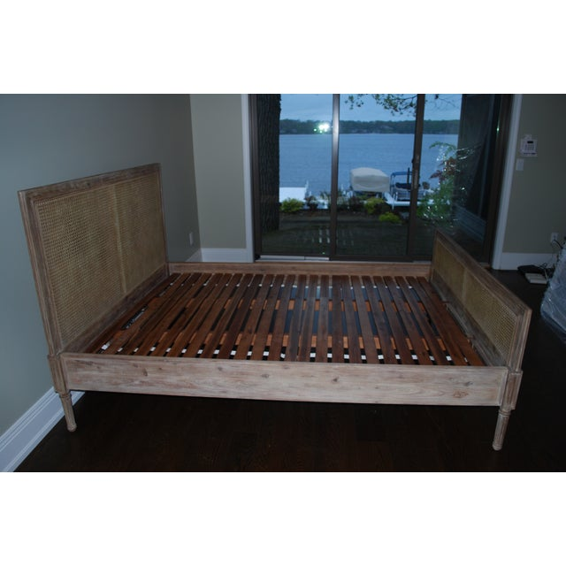 Contemporary Serena & Lily Harbor Cane Queen Bed For Sale - Image 3 of 4