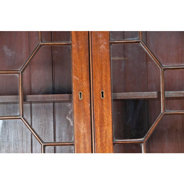 Huge George III Style Mahogany Breakfront Bookcase - Image 7 of 7