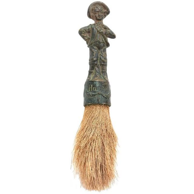 19th Century Decorative German Verdigris Brush For Sale In Chicago - Image 6 of 6